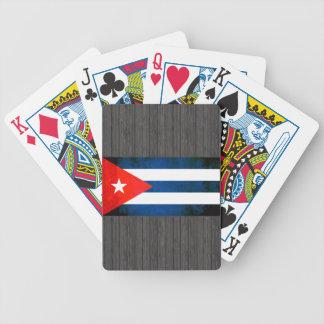 Bandera colorida del cubano del contraste baraja de cartas