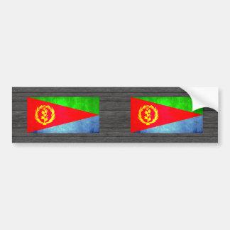 Bandera colorida del Eritrean del contraste Pegatina Para Auto