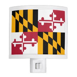 Bandera colorida del estado de Maryland Lámpara De Noche