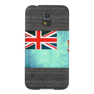 Bandera colorida del Fijian del contraste Funda De Galaxy S5