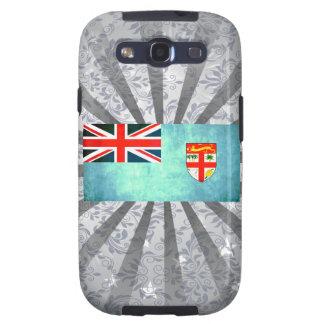 Bandera colorida del Fijian del contraste Samsung Galaxy S3 Coberturas