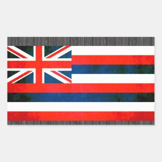 Bandera colorida del Hawaiian del contraste Pegatina Rectangular