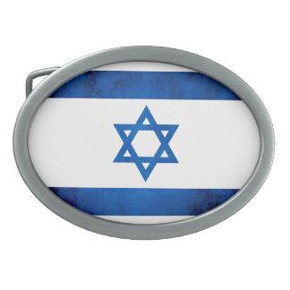 Bandera colorida del israelí del contraste hebilla de cinturon oval