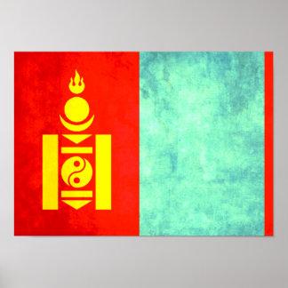 Bandera colorida del Mongolian del contraste Impresiones