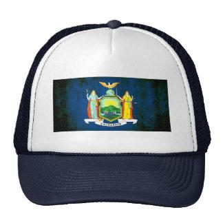 Bandera colorida del neoyorquino del contraste gorras de camionero