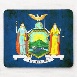 Bandera colorida del neoyorquino del contraste tapete de raton