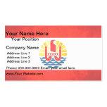 Bandera colorida del polinesio del contraste plantilla de tarjeta de visita