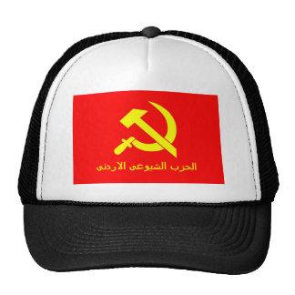 Bandera comunista jordana gorra