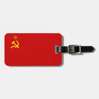 Bandera comunista URSS de Rusia Etiqueta Para Equipaje