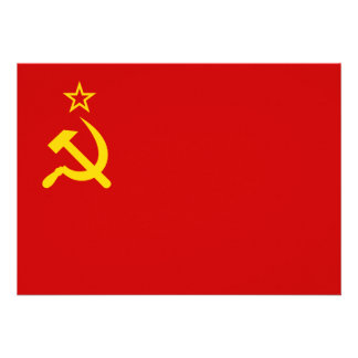 Bandera comunista URSS de Rusia Invitacion Personal