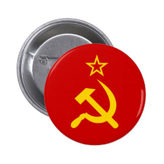 Bandera comunista URSS de Rusia Pin Redondo 5 Cm