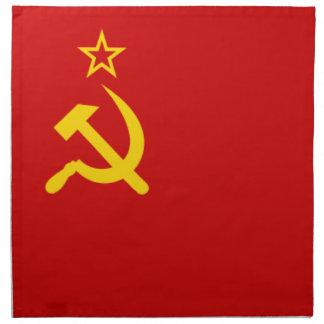 Bandera comunista URSS de Rusia Servilletas De Papel