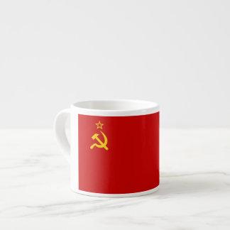 Bandera comunista URSS de Rusia Taza Espresso