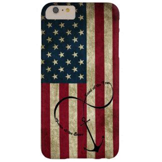 Bandera con el ancla del infinito funda barely there iPhone 6 plus