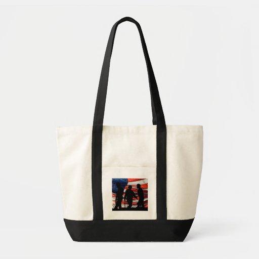 Bandera con el bolso de la lona de la silueta del  bolsa tela impulso