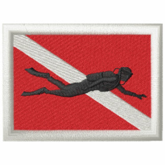 Bandera con el buceador polo bordado