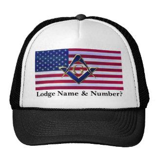 Bandera con el cuadrado y los compases gorras de camionero