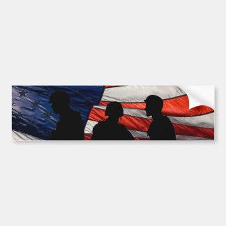 Bandera con la pegatina para el parachoques de la  pegatina para auto