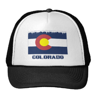 Bandera congelada de Colorado Gorro De Camionero