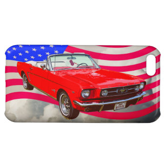 Bandera convertible y americana del mustango 1965