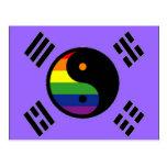 Bandera coreana del orgullo de GLBT Tarjeta Postal