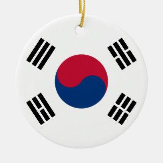 Bandera coreana Seul S.K. koreans Pride de la Core Ornaments Para Arbol De Navidad