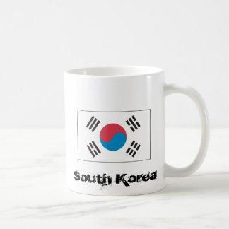 Bandera coreana tazas de café