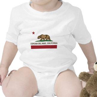 bandera Corona del Mar de California Traje De Bebé