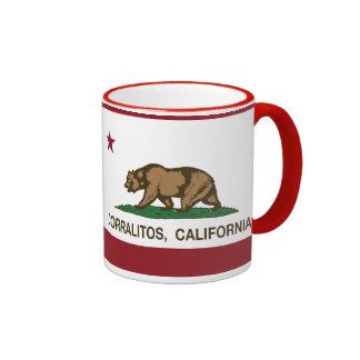 Bandera Corralitos de la república de California Taza De Dos Colores