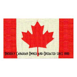 Bandera cosida negocio orgulloso canadiense del tarjetas de visita