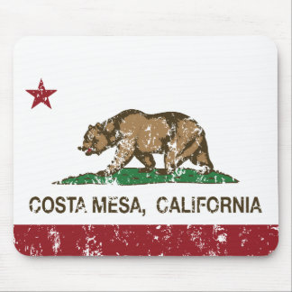 Bandera Costa Mesa del estado de California Tapete De Raton