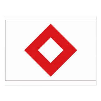 Bandera cristalina roja de la Cruz Roja Postales
