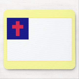 Bandera cristiana alfombrillas de ratón