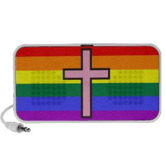Bandera cristiana gay sistema de altavoz