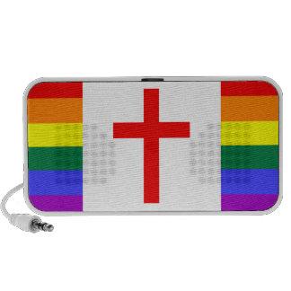Bandera cristiana gay (estilo de Canadá) iPod Altavoz