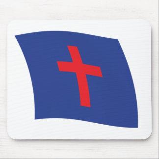Bandera cristiana Mousepad de la religión