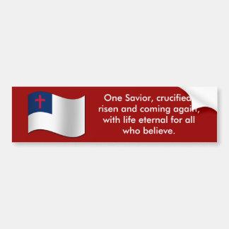 Bandera cristiana pegatina para auto
