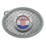 Bandera croata industrial con el gráfico de acero hebilla cinturon oval