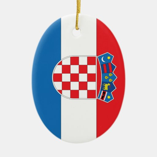 Bandera croata ornamento para reyes magos