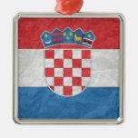 Bandera croata ornaments para arbol de navidad