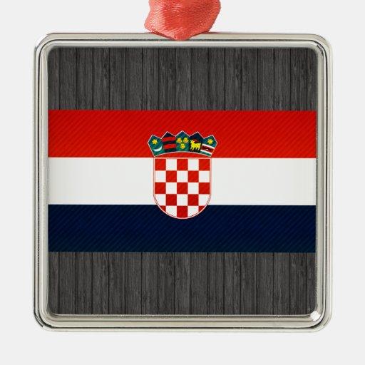 Bandera croata pelada moderna adorno para reyes