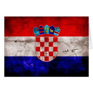 Bandera croata tarjeta pequeña