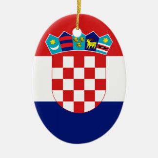 Bandera croata - Trobojnica Adorno Ovalado De Cerámica
