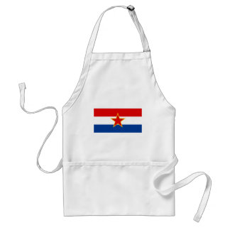 Bandera croata, zastava del hrvatska delantal