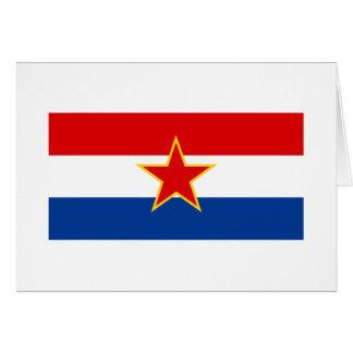 Bandera croata, zastava del hrvatska tarjeta de felicitación