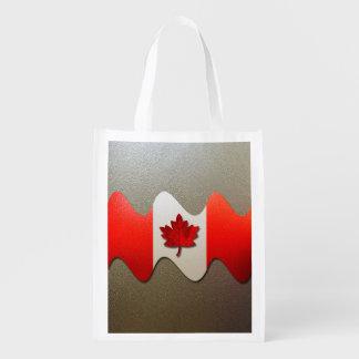 Bandera-Cromo de Canadá Bolsa Para La Compra