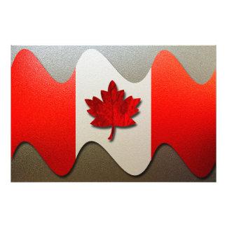 Bandera-Cromo de Canadá Cojinete