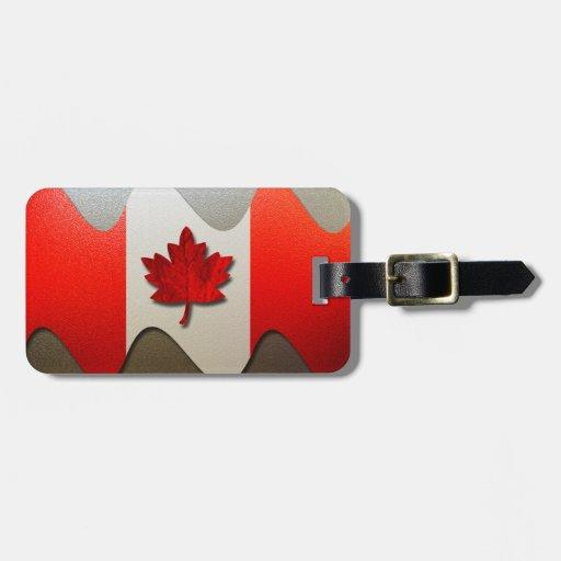 Bandera-Cromo de Canadá Etiquetas Para Maletas