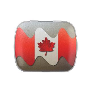 Bandera-Cromo de Canadá Latas De Dulces