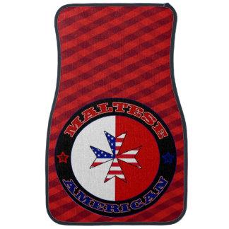 Bandera cruzada americana maltesa alfombrilla de auto
